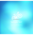 Bicycle on abstract background vector image vector image