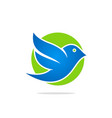 bird flying icon logo vector image vector image