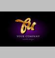 bu b u 3d gold golden alphabet letter metal logo