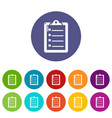 check list icons set color vector image vector image
