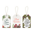 christmas tags xmas cute design for printable vector image