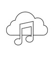 cloud computing music note sound digital button vector image vector image