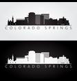 colorado springs usa skyline and landmarks vector image vector image