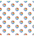 Colorful ball pattern cartoon style vector image