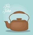colorful teapot kitchen design vector image