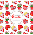 colorful watercolor valentine pattern background vector image vector image