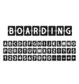 creative font in airport board style airline vector image