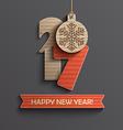 Creative happy new year 2017 design vector image vector image