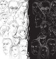 crowd split vector image vector image
