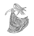 Dancing girl in a dress vector image