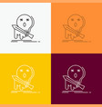 death frag game kill sword icon over various vector image vector image