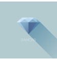 Diamond flat icon with long shadow vector image vector image