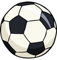 doodle soccer ball vector image