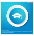 education simple icon abstract blue web sticker vector image