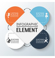 element for infographic chart template geometric vector image vector image