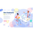 employee hiring interview concept vector image