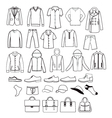 fashion casual collection set of Fashion man vector image vector image