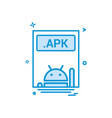 file files apk icon design vector image vector image