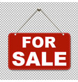for sale sign with transparent background vector image vector image