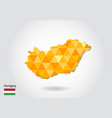 geometric polygonal style map of hungary low poly vector image vector image