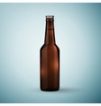 Glass beer brown bottle icon isolated on blue vector image vector image