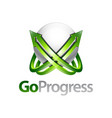 go progress sphere arrow up logo concept design vector image vector image