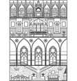 gothic interior Converted vector image vector image