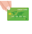 hand holding credit card quick payment concept f vector image vector image