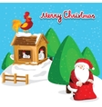 Happy new year greeting card with Santa Claus vector image vector image