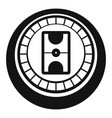 hockey arena icon simple style vector image