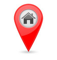 home location marker red 3d icon vector image