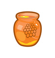 Honey jar vector image vector image
