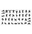 human sport icons training persons silhouettes vector image