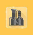 hydrogen plant silhouette icon in flat style on vector image vector image
