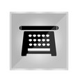 icon of an old typewriter vector image vector image