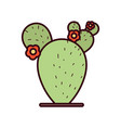 isolated cactus icon design vector image vector image