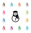 isolated winter icon snowman element can vector image vector image