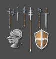 knight weapons and armor vector image