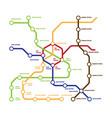 map metro template highspeed subway vector image vector image