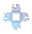 microchip icon in color gradient silhouette from vector image vector image