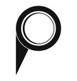navigation pin icon simple style vector image vector image