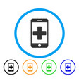 online smartphone medicine rounded icon vector image vector image