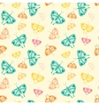 pattern with butterflies of random size and color vector image