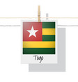 photo of togo flag vector image vector image