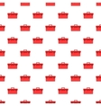 Red case pattern cartoon style vector image