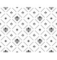 seamless pattern with black royal lilies vector image vector image