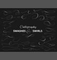 set custom decorative swashes and swirls white vector image