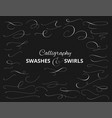set of custom decorative swashes and swirls white vector image vector image