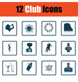 Set of twelve Night club icons vector image vector image