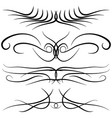 set of vintage decorative curls swirls vector image vector image
